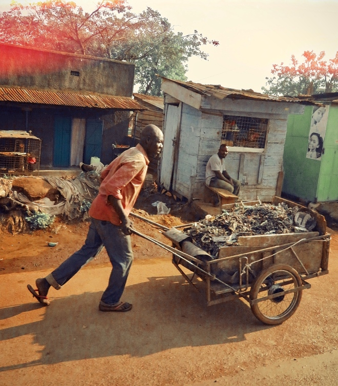 Man wheelbarrow