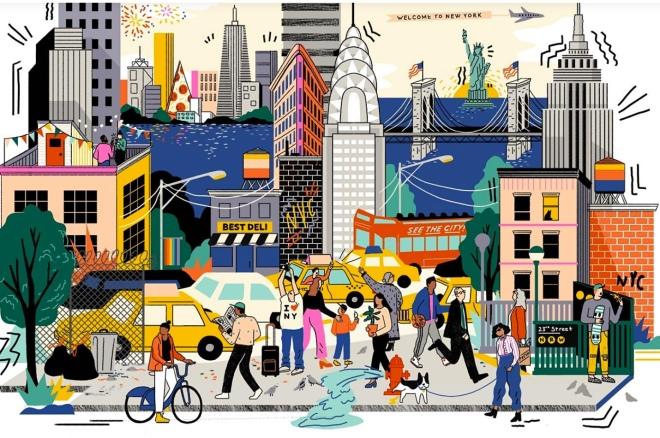 NYC cartoon